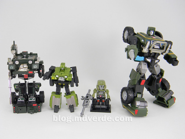 Transformers Hound EZ Collection - modo robot vs G1 vs Henkei