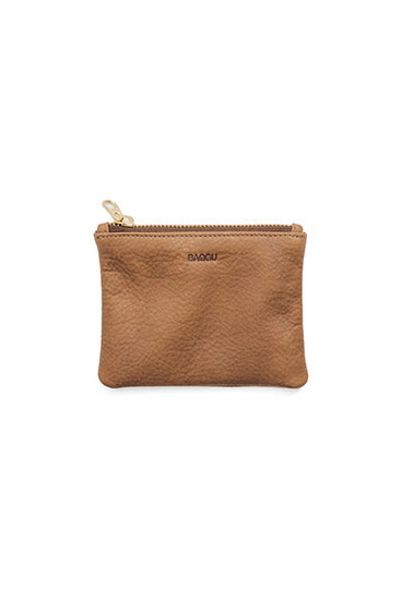 Small Flat Leather Clutch