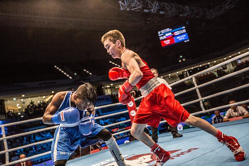 #AIBAWorlds2015 Finals Day 1: Joahnys Argilagos (CUB) vs Vasilii Egorov (RUS)