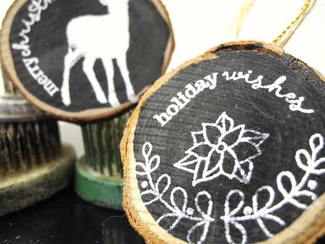 Wood Slice Gift Tags by Jennifer ingle #JustJingle #SimonSaysStamp #WinnieAndWalter #MayArts #christmas #diy
