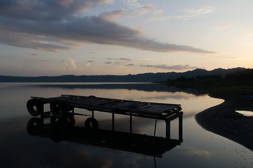 ashanti ghana lake evening africa westafrica bosumtwi botsomtwe