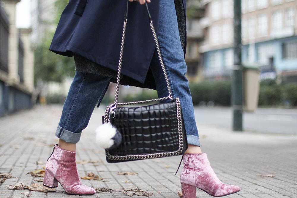 botines de terciopelo rosa asos myblueberrynightsblog