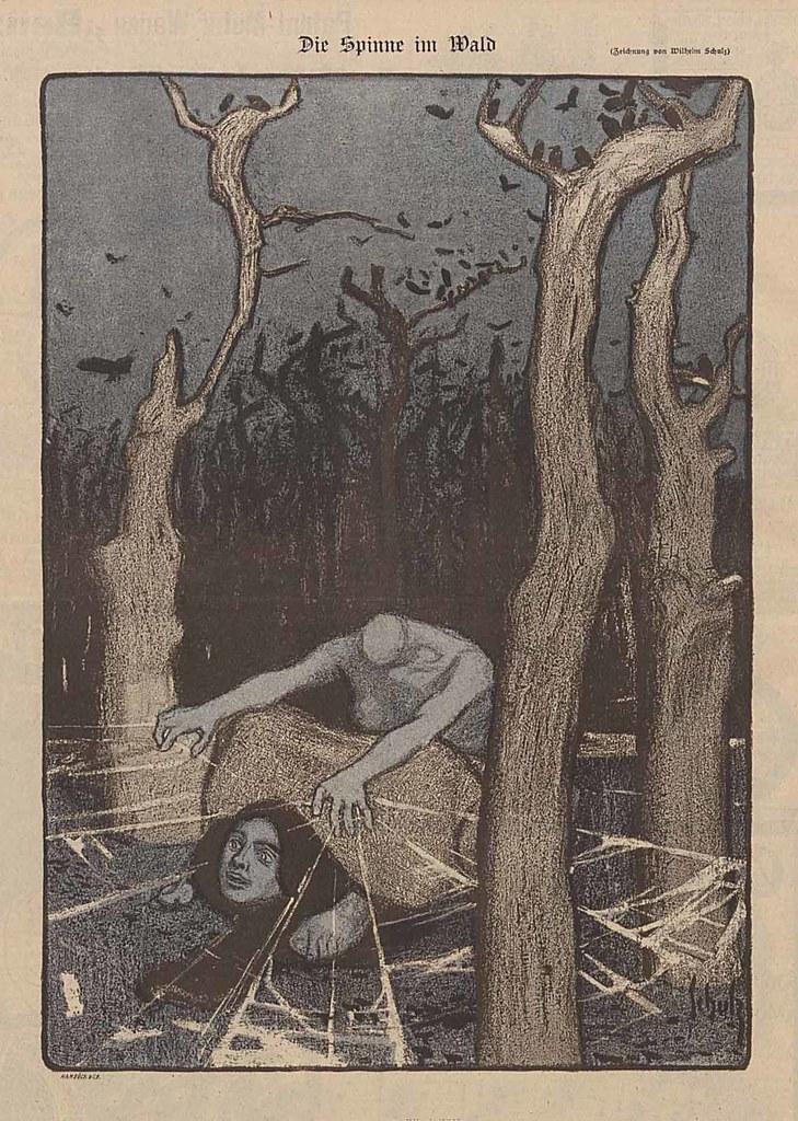 Wilhelm Schulz - The Spider In The Forest, 1899