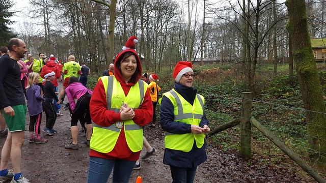 Volunteers Jayne and Kim. Wyre Forest parkrun 19/12/2015