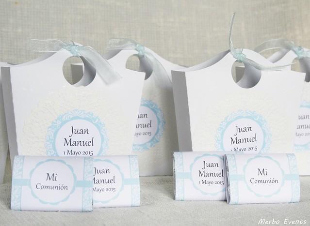 cestos minichocolatinas comunión niño