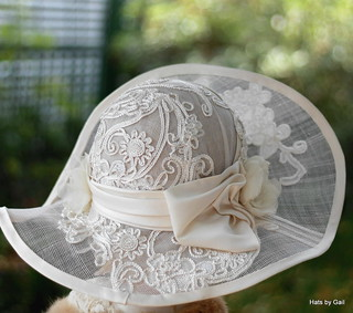 Tea Party Wide Brim Hat for Summer