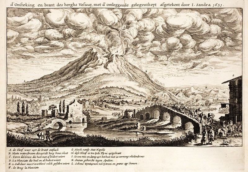 Eruption of the Vesuvius on 16 December 1631, by Joachim von Sandrart