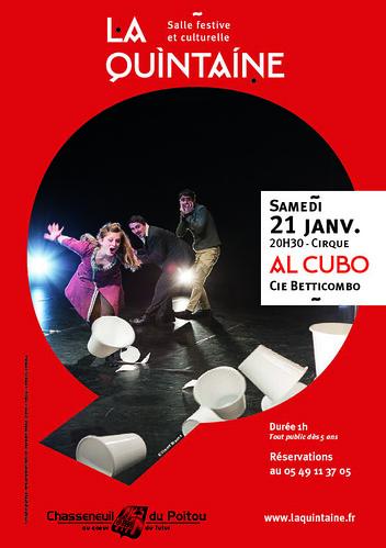"""Spectacle de CIRQUE """" AL CUBO """" - Compagnie BETTICOMBO à Chasseneuil du Poitou - Grand Poitiers"""
