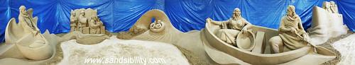 presepedisabbia salerno 2016 sculturedisabbia sandsibility spiaggia sandart sandsculpture presepe bambino maria giuseppe gesù