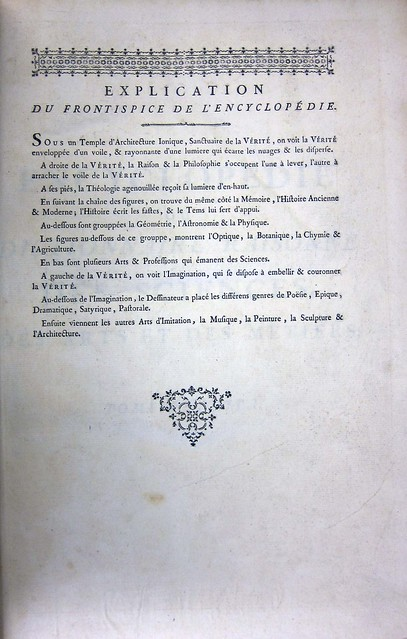 diderot frontispiece explication