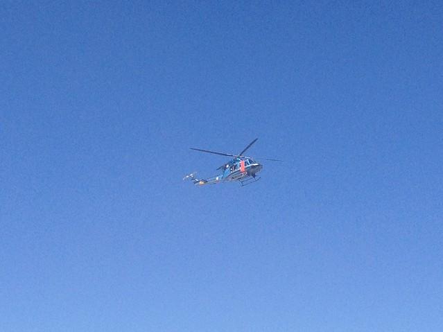 西穂高岳 ヘリコプター