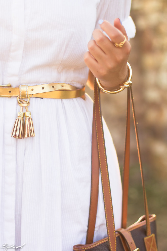 white shirt dress, gold tassel belt, brown sandals-10.jpg