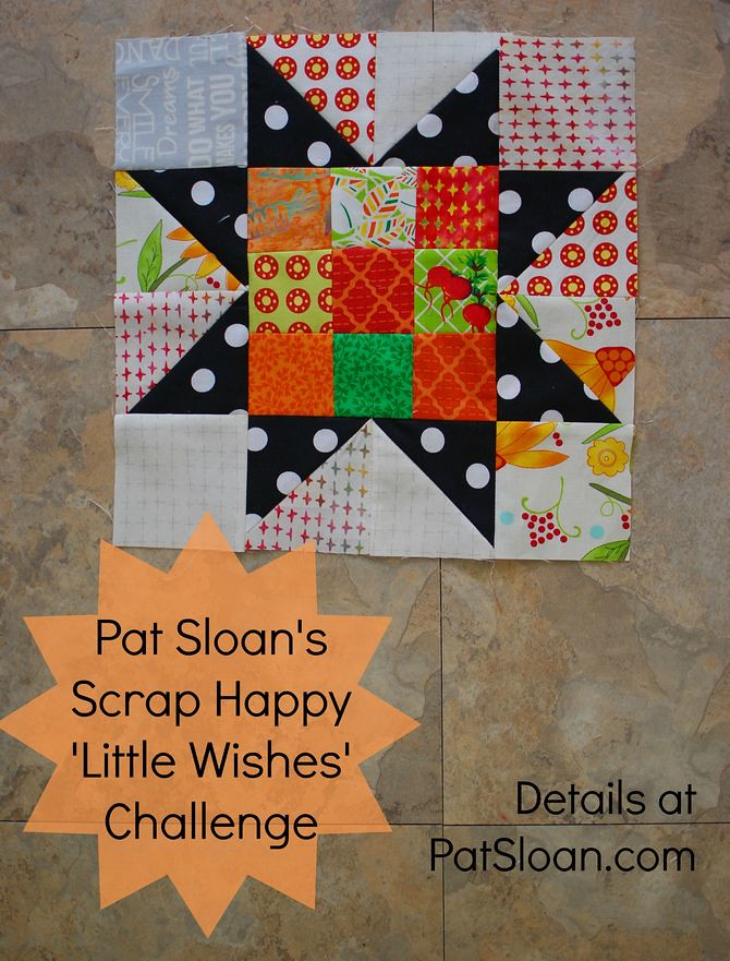 Pat Sloan Scrap Happy Little Wishes challenge button tall
