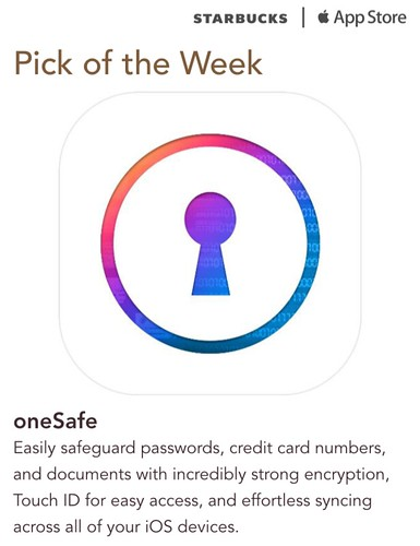 Starbucks iTunes Pick of the Week - oneSafe