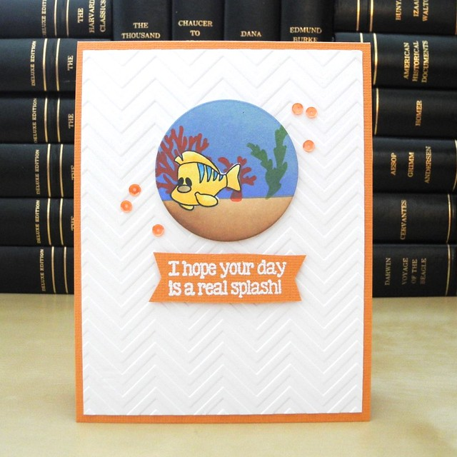 A Real Splash! by Jennifer Ingle #JustJingle #SimonSaysStamp #PinkAndMain #Cards