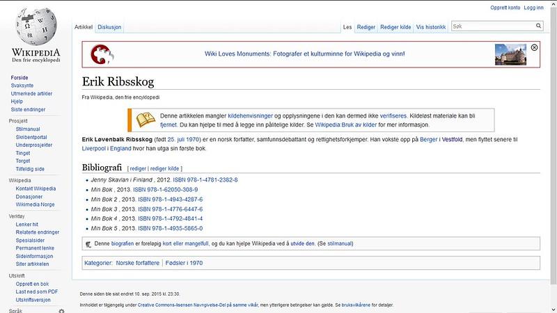 erik ribsskog wiki