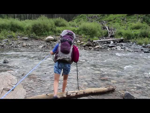 3439 Video of Vicki crossing Vallecito Creek at the Ford