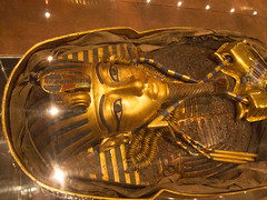 Gold face of King Tut