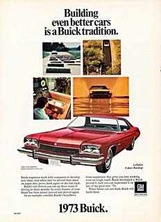 1973 Buick LeSabre 4-Door Hardtop (Canadian Ad)
