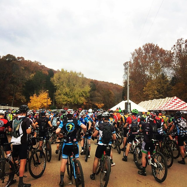 The one picture I took at BT Epic, which is a shame because the whole course was a panorama of singletrack winding through glorious autumn scenery. Even when I was suffering (most of the race) I could appreciate how lucky I was to be there, see that, and