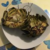 Grilled Artichoke with Lemon, Garlic and Olive Oil #grilledartichokes #artichoke