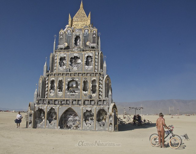 naturist 0003 Burning Man 2015, Black Rock City, Nevada, USA