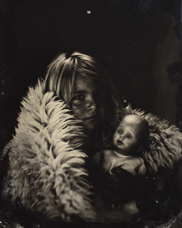 Wetplate of my daughter. Tintype