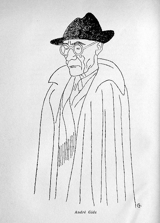 DSC07896. André GIDE. Dessin de Carlo Rim.