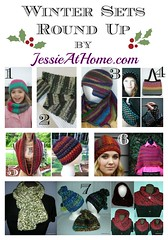 Winter Sets Crochet Patterns ~ Round Up from Jessie At Home