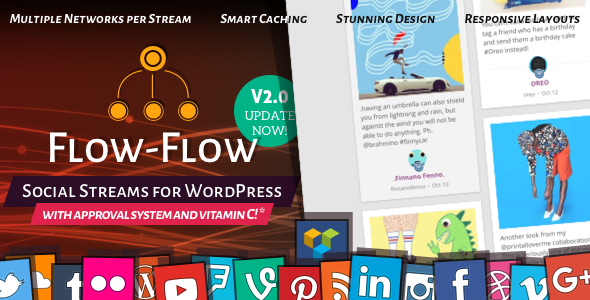 Codecanyon Flow-Flow v2.3.2 - Social Streams for WordPress