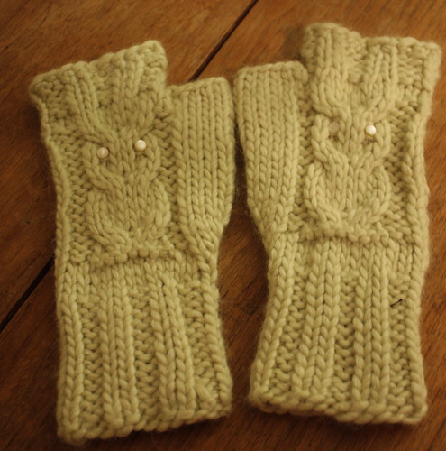 Green Owl Mitts