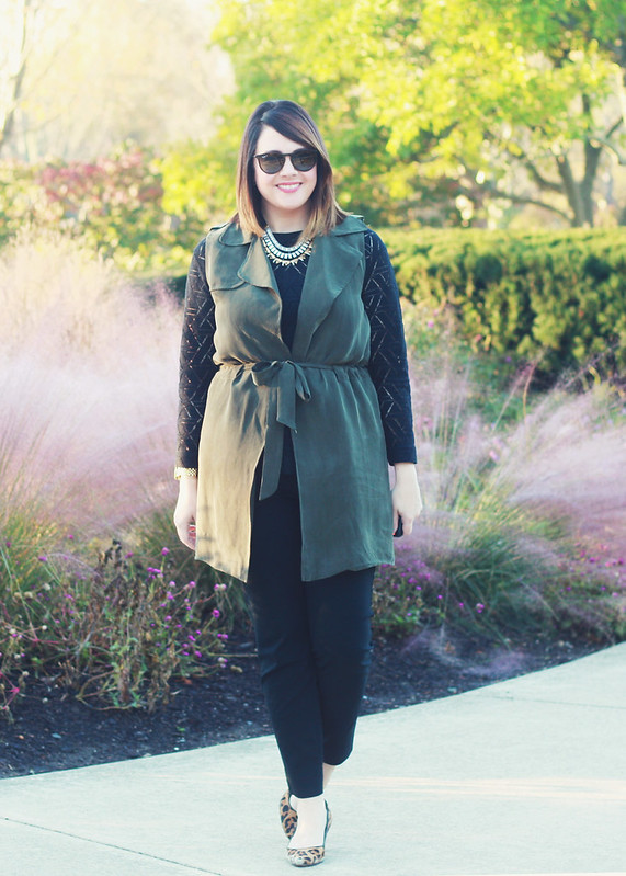 Anthropologie Army Green Vest 1