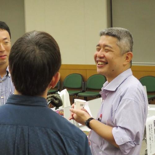 懇親会。戦時中の、日本軍がタイに向けて制作したタイ語のプロパガンダ印刷物についての話が面白かった。