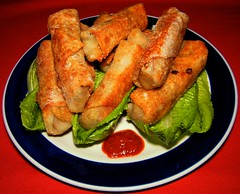 Cabbage & Shrimp Spring Rolls