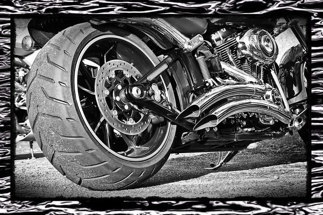 Harley rear end...