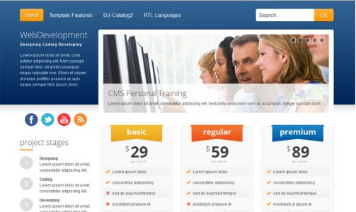 JoomlaMonster JM Web Development v1.08 - Joomla 2.5 Template
