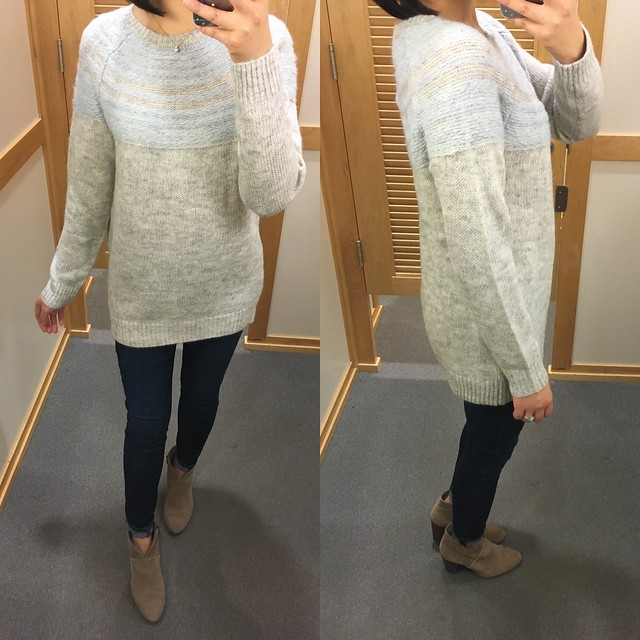 LOFT Blurred Fairisle Sweater, size XS regular