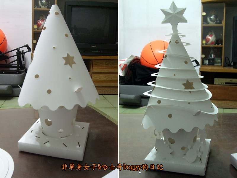 Doggy與紙箱王聖誕樹造型燈飾組05