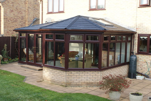 P Shape Tiled Roof Conservatory