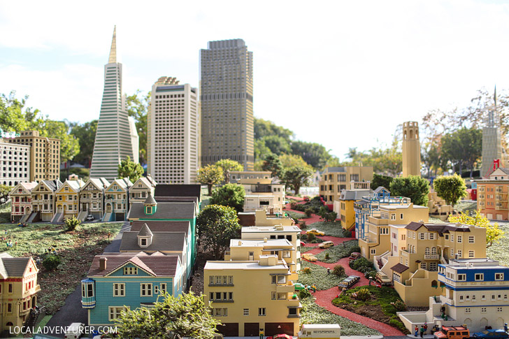 Lego Lombard Street San Francisco - If you love travel, you will be amazed at this around the world tour at Legoland California Resort.