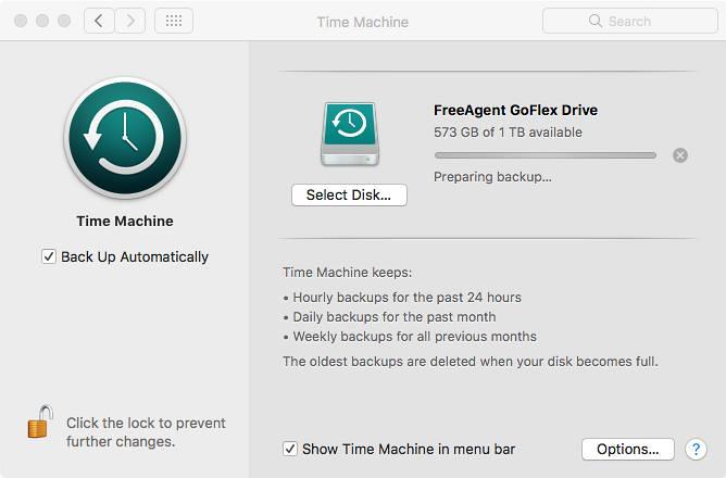 @Apple time machine preparing backup forever
