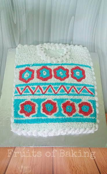 Whipped Cream Sweater Cake by Aalia Liaquat of Fruits of Baking