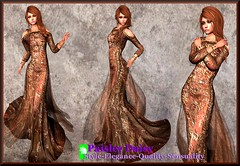 Paisley Daisy - Provocative Gown Burnt Sienna2