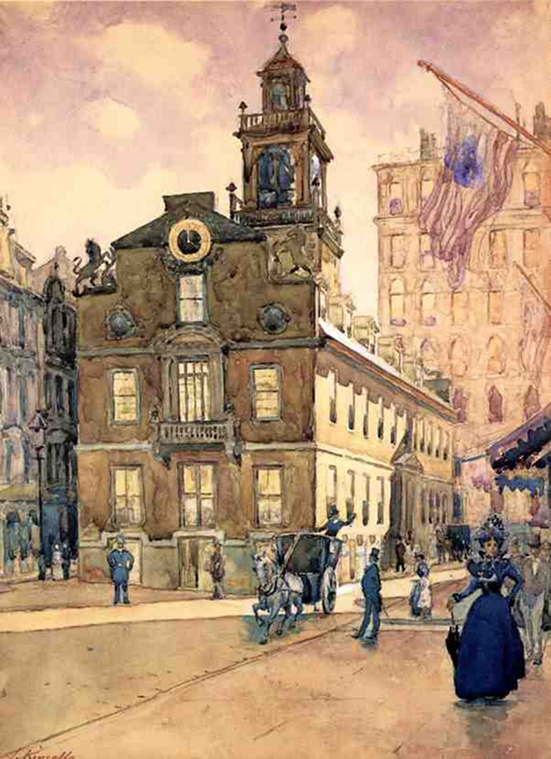 The State House from Park Street, Boston by James Kinsella (1857 - 1923)