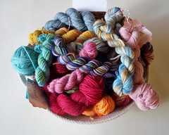 An enticing bowl of mini skeins...