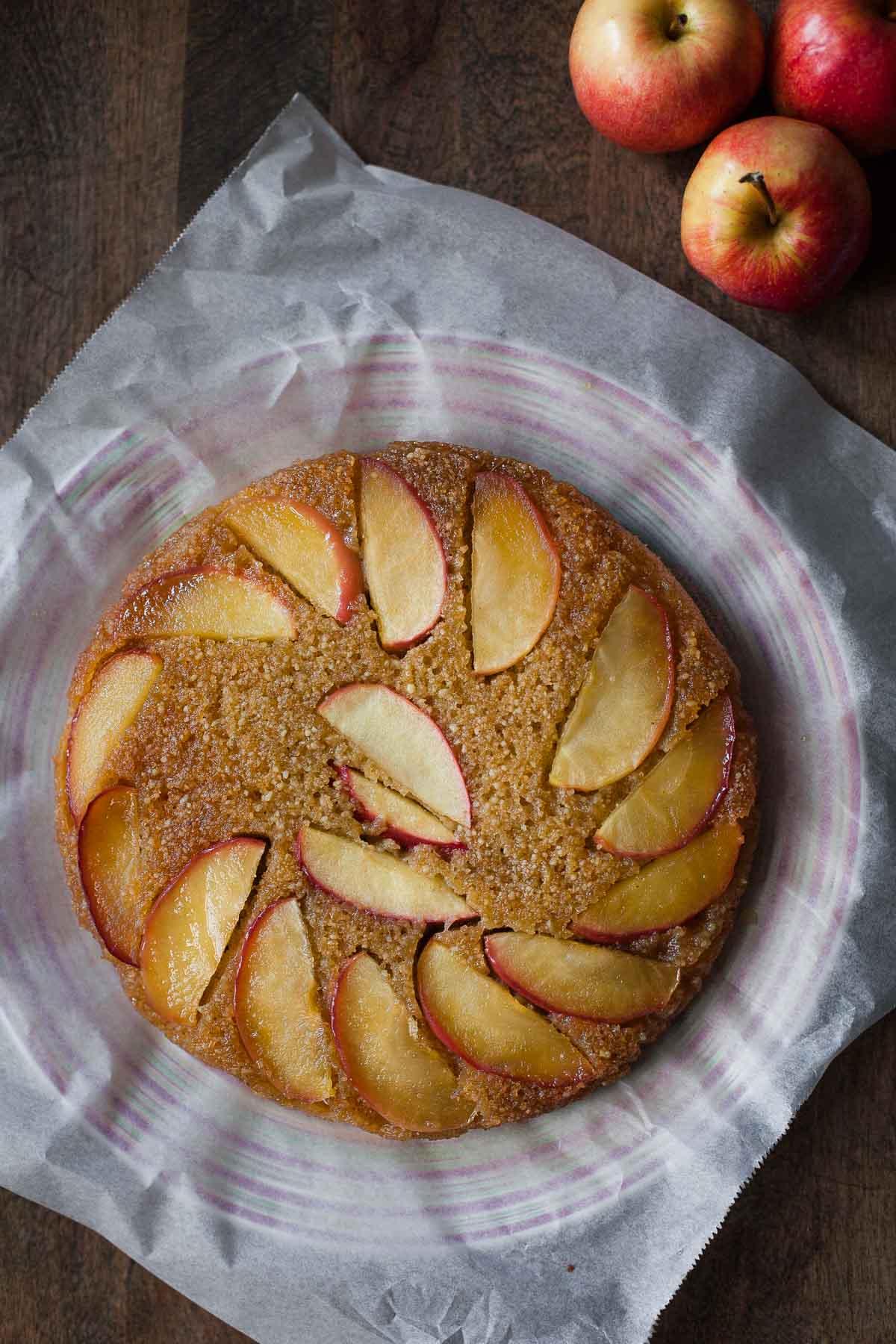 upside down cake warm apple cornmeal upside down cake upside down ...