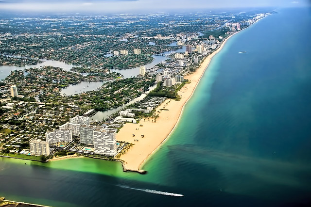 The skyline of Fort Lauderdale Beach, Florida, U.S.A.