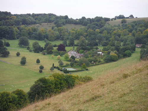 Rainscombe House, Oare Hill, from Giant's Grave