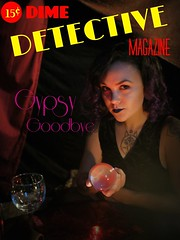 Having fun creating my own #pulpfiction #detective covers. #crimefiction #gypsy #crystalball