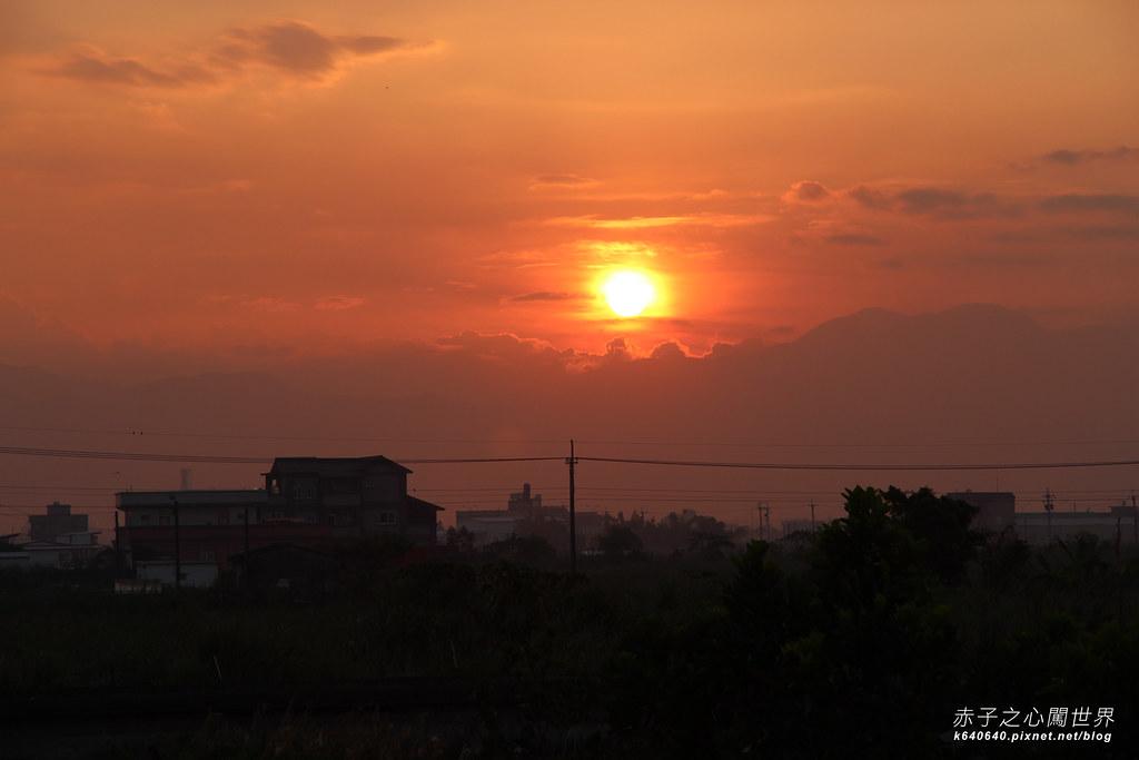 宜蘭夕陽-大閘門五結大排7